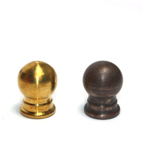 Solid Brass Globe Finial 10mm thread